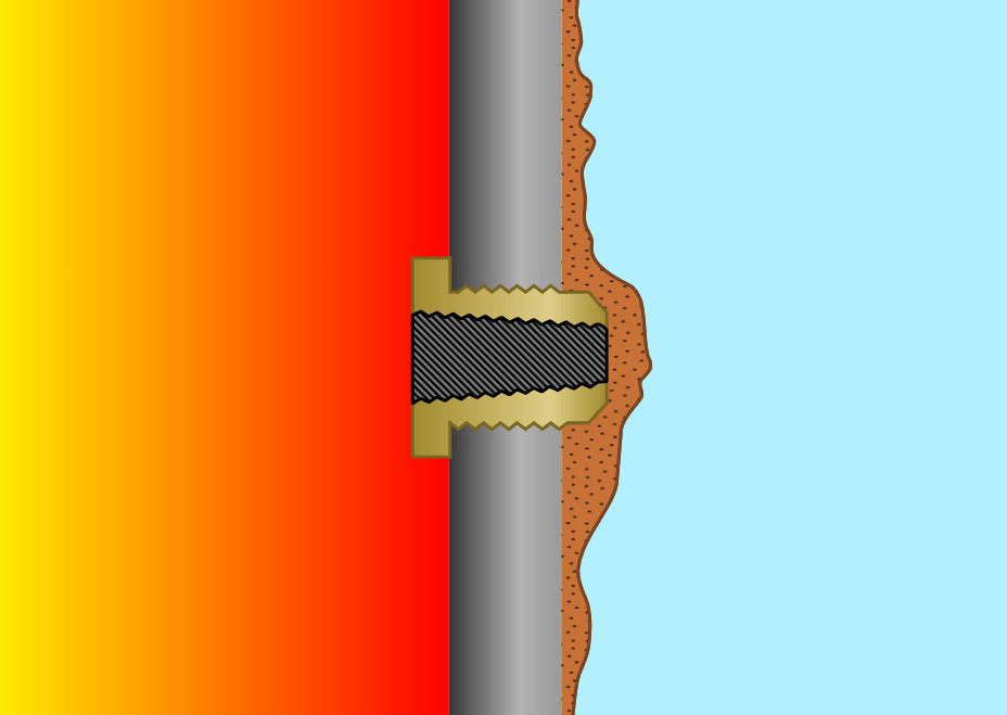 Scale on Fusible Plug