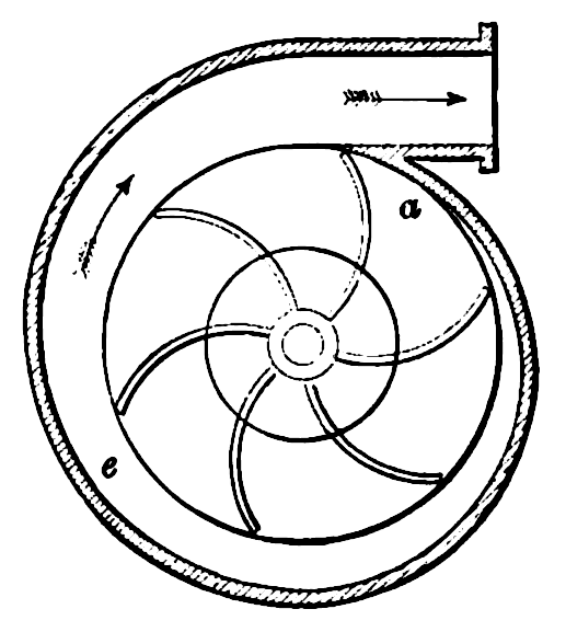 Impeller Surrounded by Volute Casing