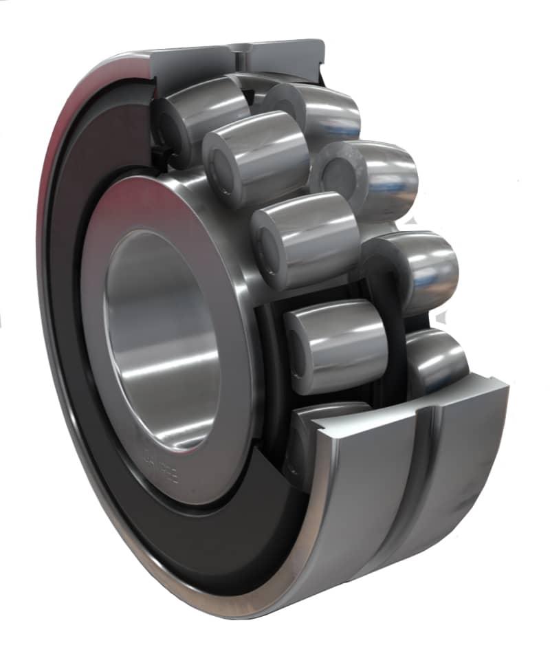 Spherical Roller Bearing (barrel shaped rolling elements)