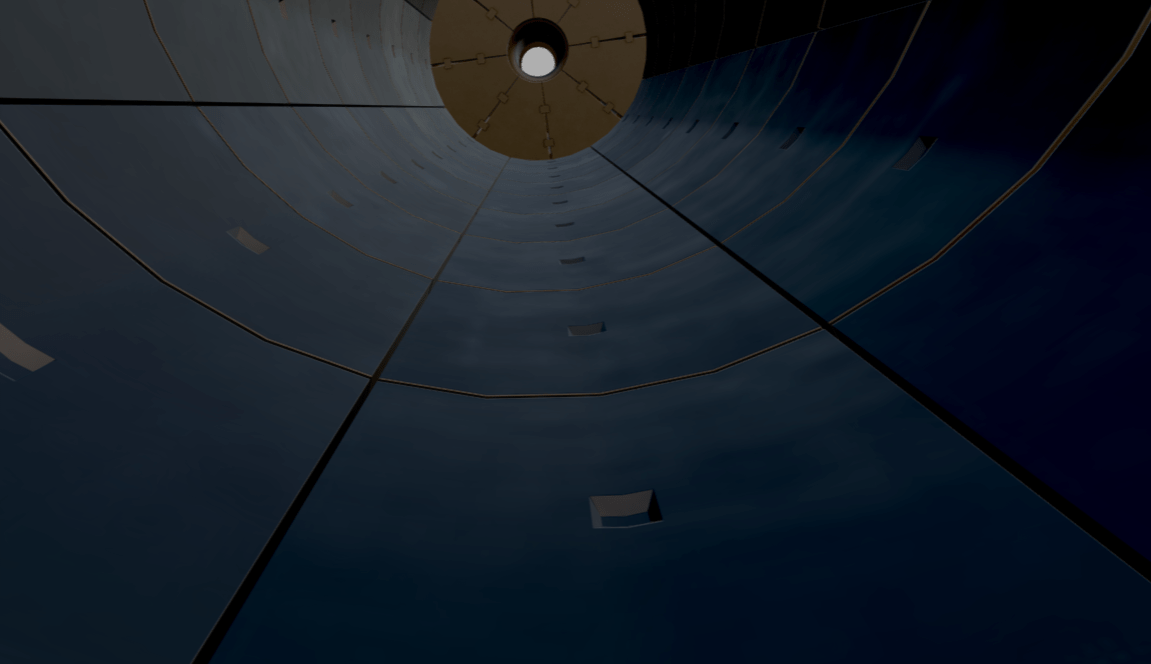 View Inside Ball Mill (armour plates are the square shapes)