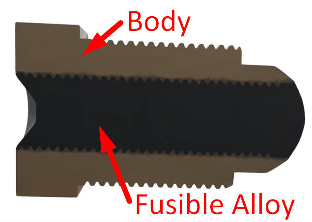 Fusible Plug Body and Alloy