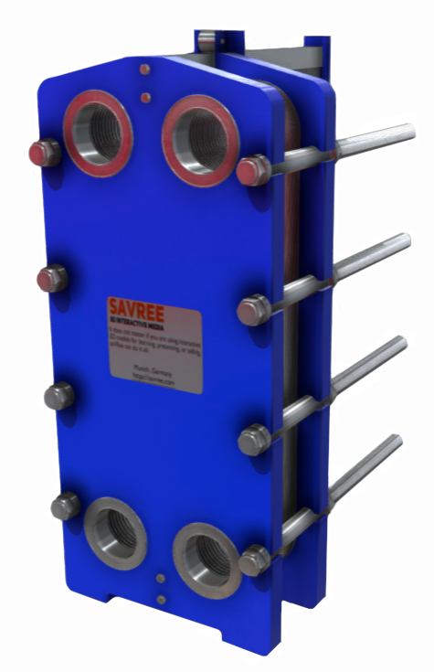 Assembled Plate Heat Exchanger